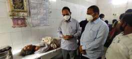 Jamshedpur MP Bidyut Mahato in MGMCH